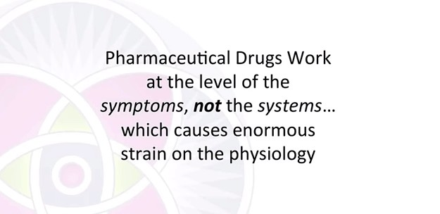 pharmaceutical drugs work on symptoms not system level