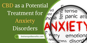 CBD as a Potential Treatment for Anxiety Disorders