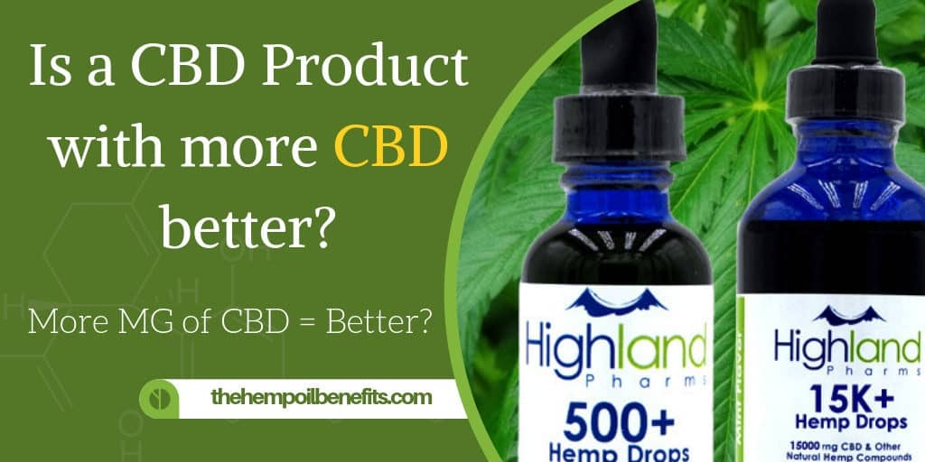 Is a CBD Product with more CBD better