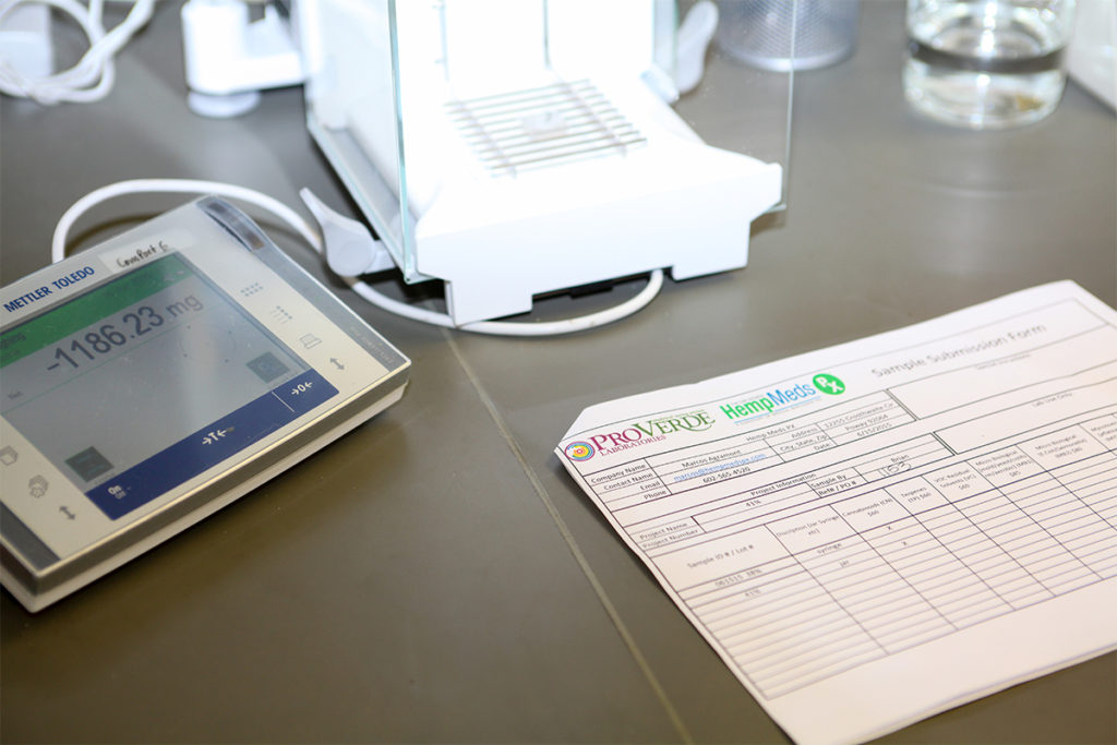 lab report batch testing