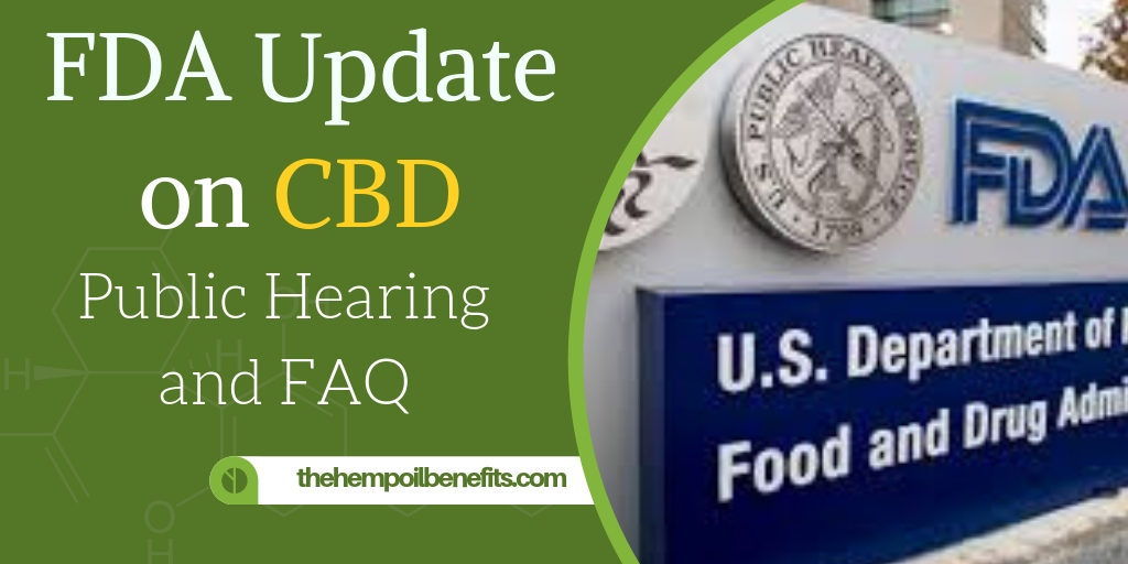 FDA Update on CBD - Public Hearing