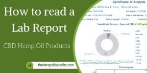 How to read the Lab Report of CBD Hemp Oil Products